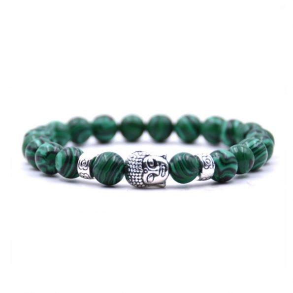 """Браслет """"Будда"""" камень малахит, зеленый"""